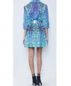 28. Turquoise Python Print Cotton Gabardineback