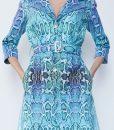 28. Turquoise Python Print Cotton Gacubardine copy