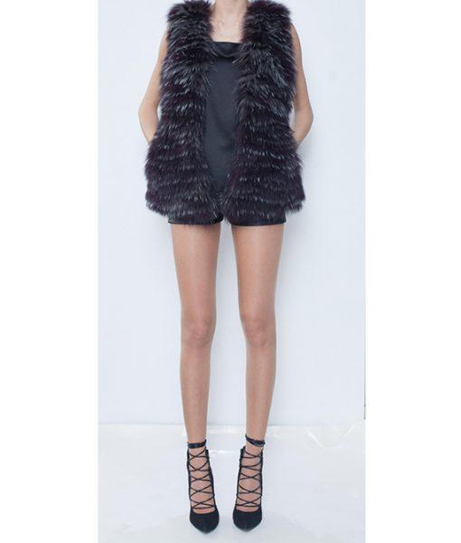 7. Python Skin and fox fur Vest