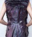7. Python Skin and fox fur Vest..
